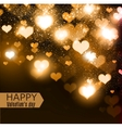 Elegant background with hearts and place for text vector image vector image