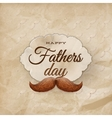 Card with mustache for Father s Day EPS 10 vector image vector image