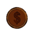 Isolated coin money vector image