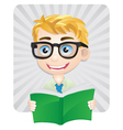 Studying Boys vector image vector image