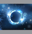 Round frost banner vector image