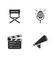 four cinema icons vector image