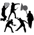 Rioter Silhouette vector image vector image