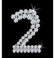 Diamond alphabetic figure vector image vector image