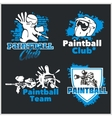Paintball emblem and logo - set vector image vector image