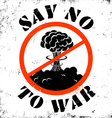 no war sign vector image