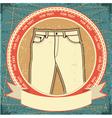 retro jeans label vector image vector image