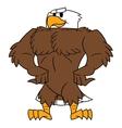 Strong eagle posing vector image