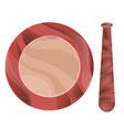 Wooden Mortar and Pestle on White Background vector image vector image