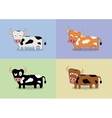 Cartoon cow set vector image