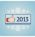 new year greeting card with like sign vector image vector image