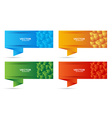 banners set with colored cubes shape vector image