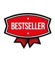 Bestseller vintage sign red vector image