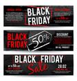 black friday sale horizontal advertising vector image