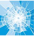 broken glass background of cracked glass vector image