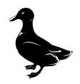 duck black and white vector image