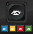 eyelashes icon symbol Set of five colorful stylish vector image