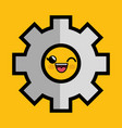 gear machine character icon vector image
