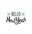 Hello new year vector image