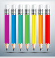 Pencil set 2 vector image
