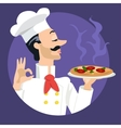 pizza cook or chef vector image