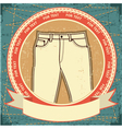 retro jeans label vector image
