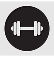 information icon - dumbbell vector image
