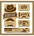 Barbershop cards set vector image