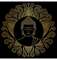 Gold Buddha with Lotus vector image