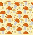mushrooms seamless pattern boletus edulis endless vector image