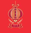 chinese flashlight greeting card winter holidays vector image