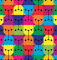 Dog texture pattern vector image