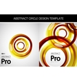 swirl template vector image vector image
