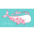 Card Be Happy with Whale vector image