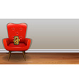 Chair and camera vector image