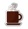 Coffee with cubes sugar vector image