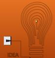 Creative light bulb idea abstract vector image