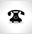 old phone icon retro phone symbol handset sign vector image