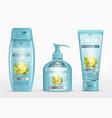 shampoo packaging cream tube soap bottle vector image