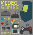 Video Games Icon Set 4 vector image