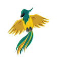 yellow-green parrot vector image