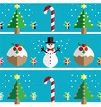 Geometric xmas pattern xmas puddings vector image