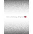 Gray Technology circle Background a4 format vector image vector image