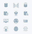 big data icons - tech series vector image