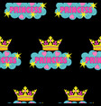 princess fashion embroidery seamless pattern vector image