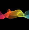 Colorful imagination design on black background vector image