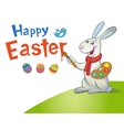 Cute Easter Bunny holding brush vector image