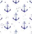 Watercolor seamless pattern with anchors vector image