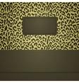 leopard spots banner vector image