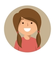 cartoon girl student school happy icon vector image